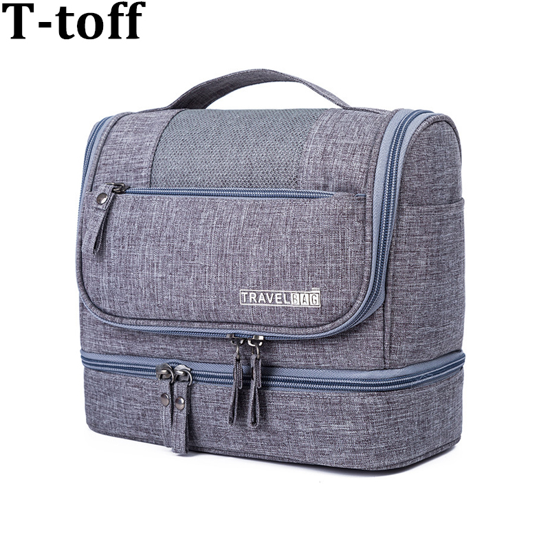 Travel Organizer Cosmetic Bag For Women Necessaries Makeup Bag Case Men Waterproof Hanging Oxford Unisex Toiletry Kits Bag