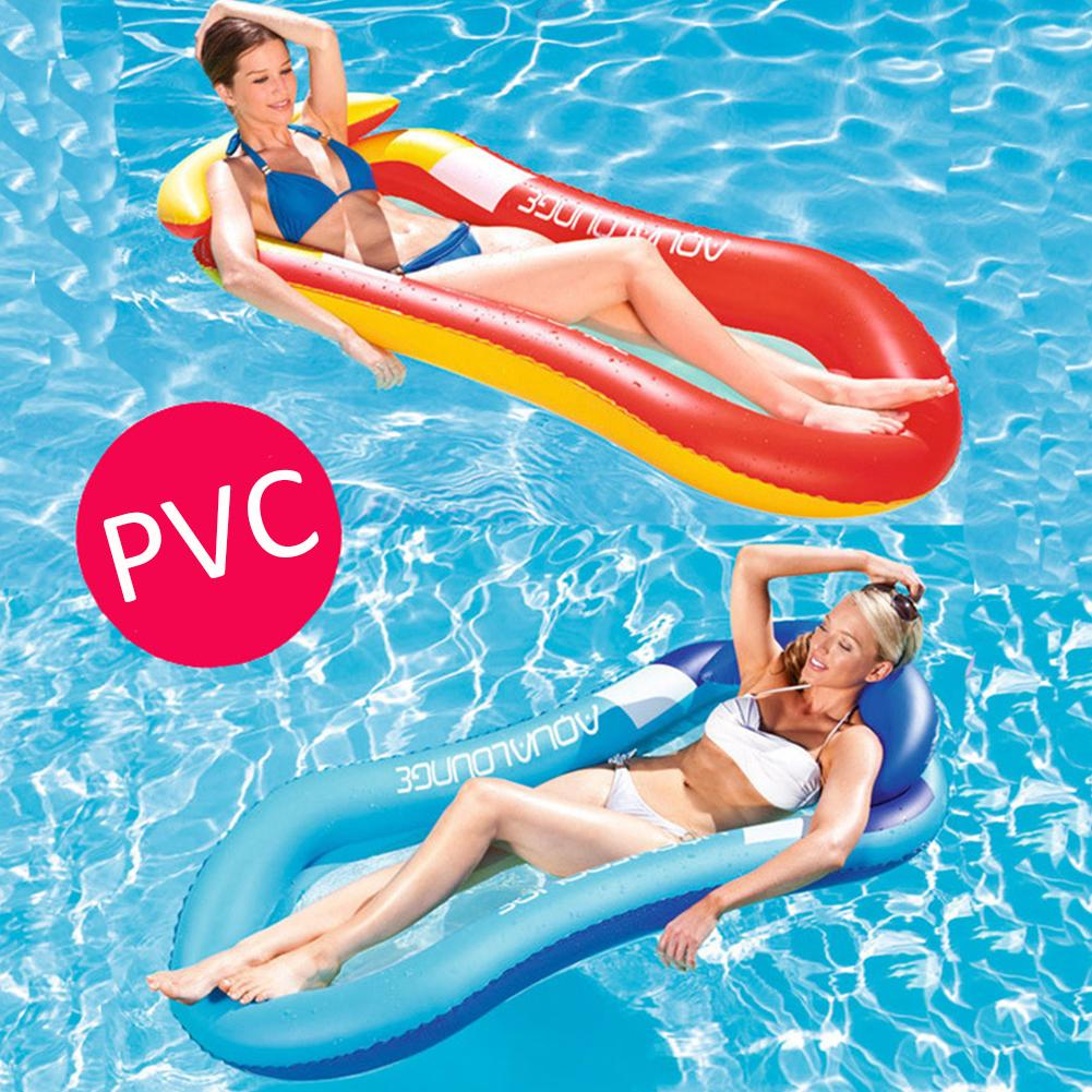 Water Mesh Hammock Pool Lounger Float Hammock Inflatable Rafts Swimming Pool Air Lightweight Floating Chair Foldable Compact