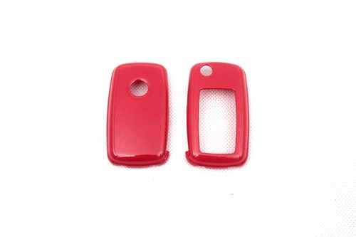 2019 New Style Remote Flip Key Cover Case Skin Shell Cap Fob Protection Gloss Red For Vw Mk6 Seat Skoda Spare No Cost At Any Cost