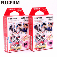 Original Fujifilm 20 sheets Instax Mini MICKEY Friend Instant Film photo paper for Instax Mini 8 7s 25 50s 90 9 SP-1 SP-2 Camera original fujifilm 10 sheets instax mini candy pop instant film photo paper for instax mini 8 7s 25 50s 90 9 sp 1 sp 2 camera