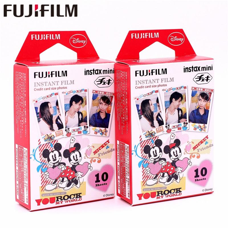 Galleria fotografica Original Fujifilm 20 sheets Instax Mini MICKEY Friend Instant Film photo paper for Instax Mini 8 7s 25 50s 90 9 SP-1 SP-2 Camera