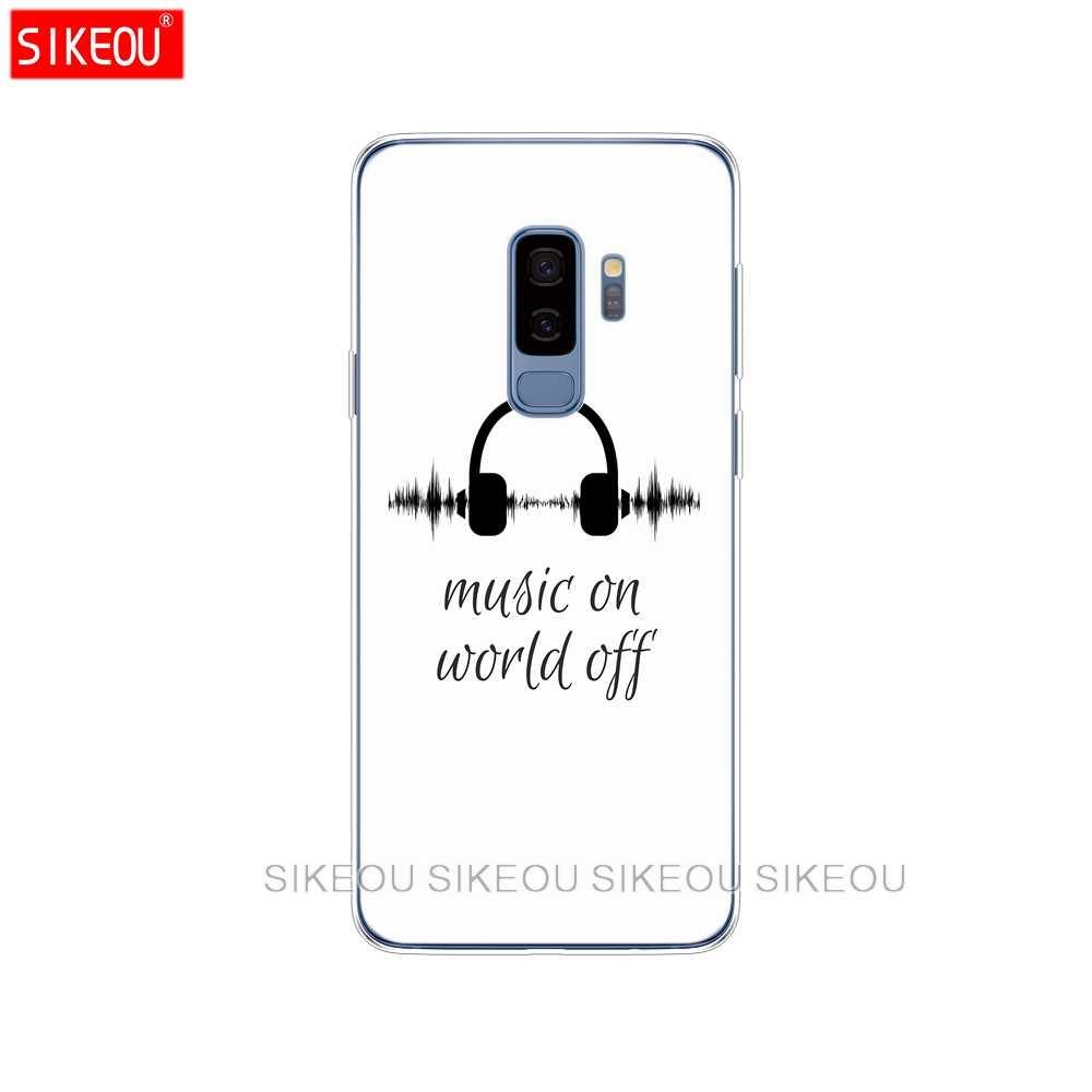 Silicone trường hợp đối Với Samsung Galaxy S9 S8 S7 S6 cạnh S5 S4 S3 CỘNG VỚI điện thoại bìa âm nhạc trên thế giới off in