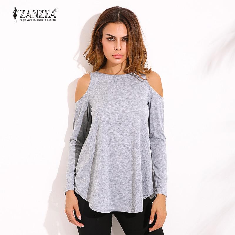 ZANZEA Otoño Elegante Blusa de Las mujeres Blusas Tops 2017 Señoras Atractivas d