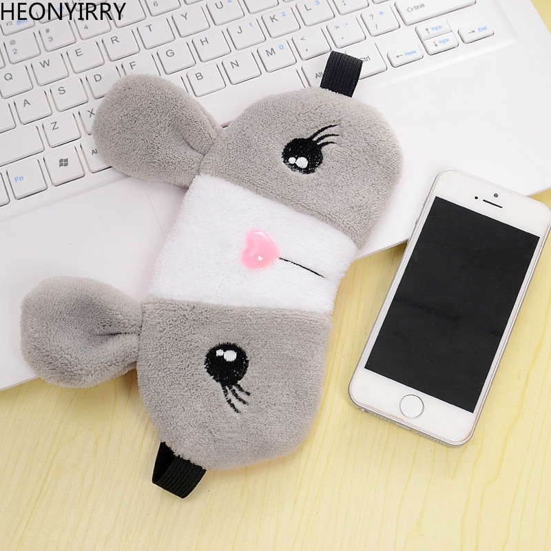 Sleeping Eye Mask Cooling Cute Rabbit Deep Dark Circle Relieve Relax Silk Gel Ice Eye Shade Eyepatch for Sleep Eye Cover Mask
