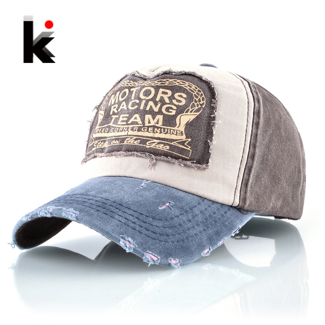 7b39ed7b94a3d Moda lavado Denim gorra de béisbol mujeres Snapback Patch Hip Hop sombreros  para hombres Primavera Verano
