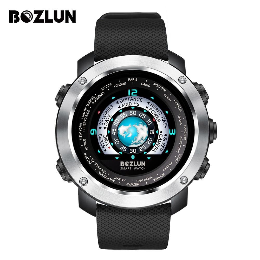 BOZLUN Для мужчин Для женщин Smartwatches спортивной моды 3D UI Bluetooth сердечного ритма трекер APP/напоминание Скорость калорий Часы w30
