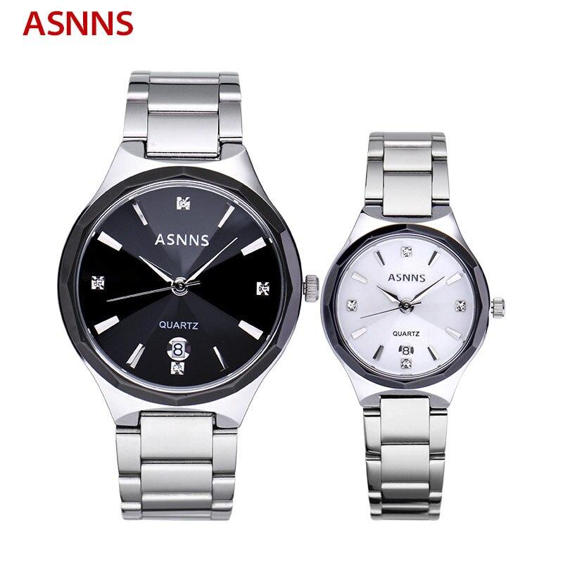 ФОТО Top Brand Luxury Men Women Lovers Watches Stainless Steel Business Watch Waterproof Quartz Wristwatch