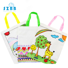 SZ STEAM DIY paint drawing toy blank portable graffiti bag children handmade environmental protection material SZ3146
