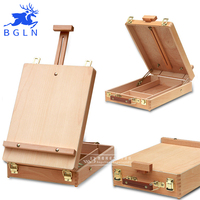 BGLN Fillet Desktop Caballete Box Easel Painting Hardware Accessories Multifunctional Oil Paint Suitcase Box Art Supplies