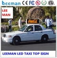 Leeman P3 P5 hydraulic lifting trailer advertising led board display p6 p5 full color mobile taxi top led
