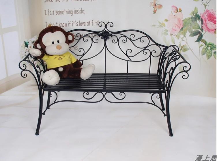 Wrought Iron Sofa Chair Outdoor Bench
