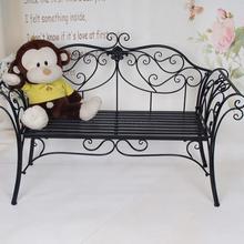 Европейский кованый диван стул открытый скамейка балкон гостиная двойной стул парк стул Досуг сад стол и стул