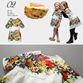 Marca Vestido de Partido Das Meninas do bebê Vestido Da Menina 2016 Primavera Print Floral Crianças Vestido de Princesa Traje robe fille enfant