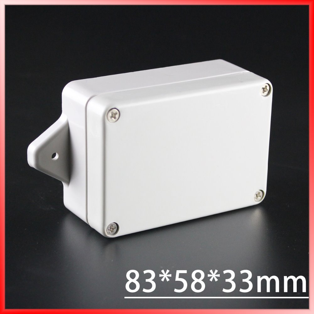 (1 piece/lot) 83*58*33mm Grey ABS Plastic IP65 Waterproof Enclosure PVC Junction Box Electronic Project Instrument Case 1 piece lot 320x240x110mm grey abs plastic ip65 waterproof enclosure pvc junction box electronic project instrument case