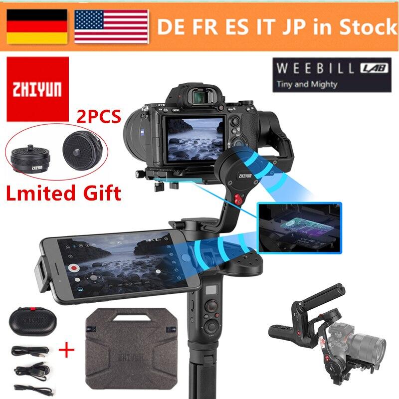 Zhiyun Weebill лаборатории 3 оси Беспроводной изображения передачи Камера Стабилизатор Для беззеркальных Камера OLED Дисплей ручной карданный