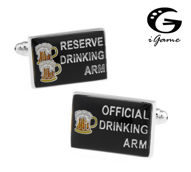 iGame Fashion Cuff Links Reserve Drinking Arm & Official Drinking Arm Black Color Unique Game Design Free Shipping ...