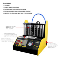 CT200 Ultrasonic Fuel Injector Cleaning Machine Tester Injector Cleaner Car Motorcycle 6 4 Cylinder Clean Tool PK CNC602A