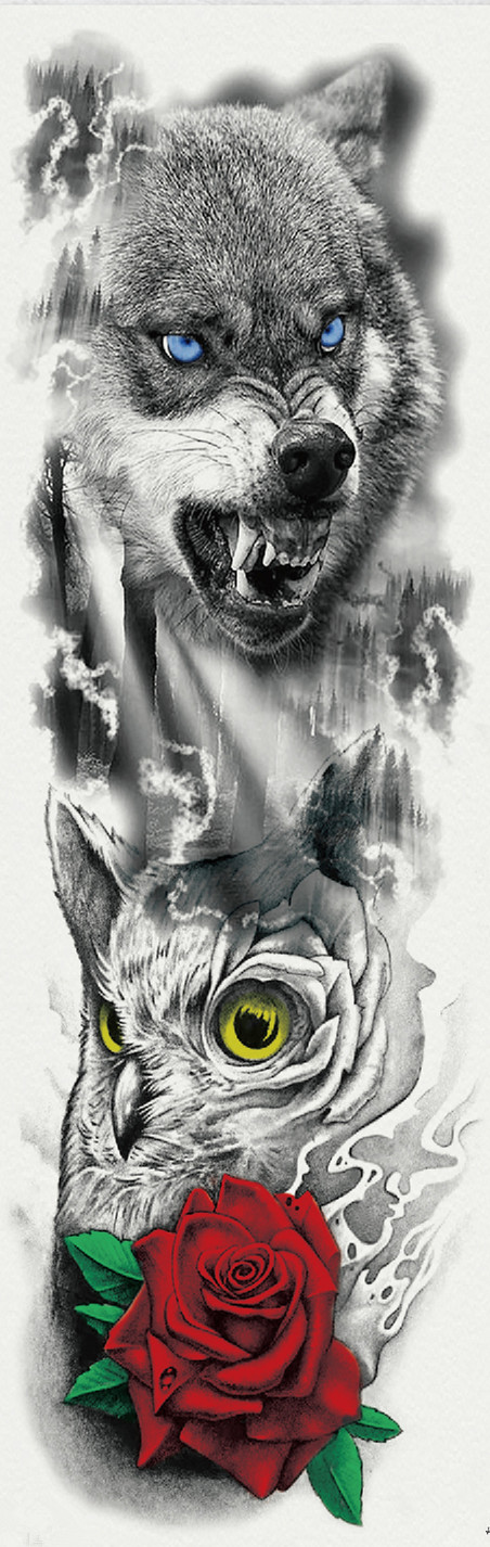 US $1 68 |Death Ghost Skull Big Body Full Arm Tattoo Sleeve Art 48*17CM Men  Waterproof Temporary Tattoo Sticker Fake Tatoo Decal For Women-in