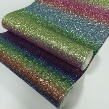 Радужный ворсистый блестящий материал мини-рулон 25 см x 138 см для рукоделия, аппликация, Рождественская стена, обои, банты для волос
