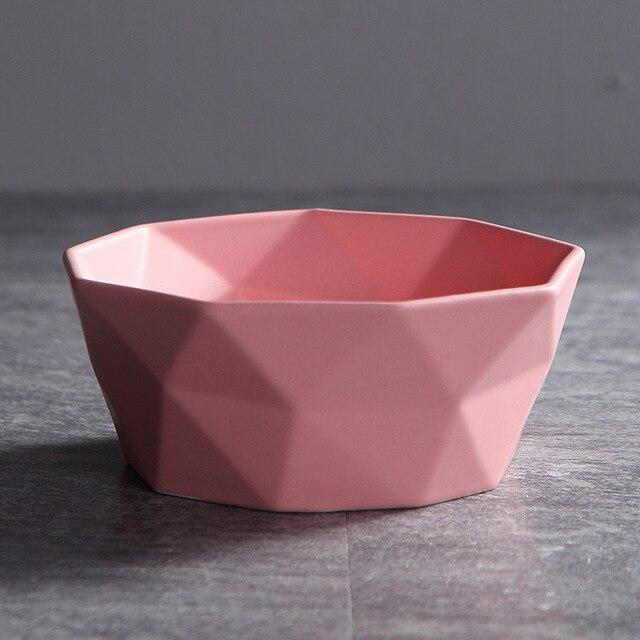 Bol à salade en céramique   Bol à gommage mat or bol à salade, bol à nouilles pour le petit déjeuner vaisselle nordique Simple, assiette à soupe 4 / 6 / 7 pouces