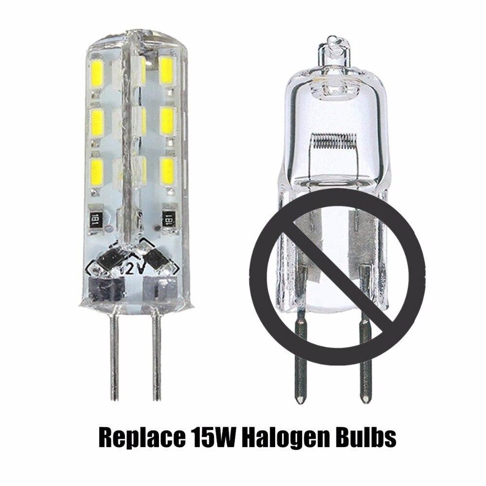 20 Pack G4 LED Bulb 1.5W Bi-Pin LED Light Bulb 24X3014 SMD 15W Halogen Bulb Equivalent Shatterproof 165 Lumens Beam Angle DC12