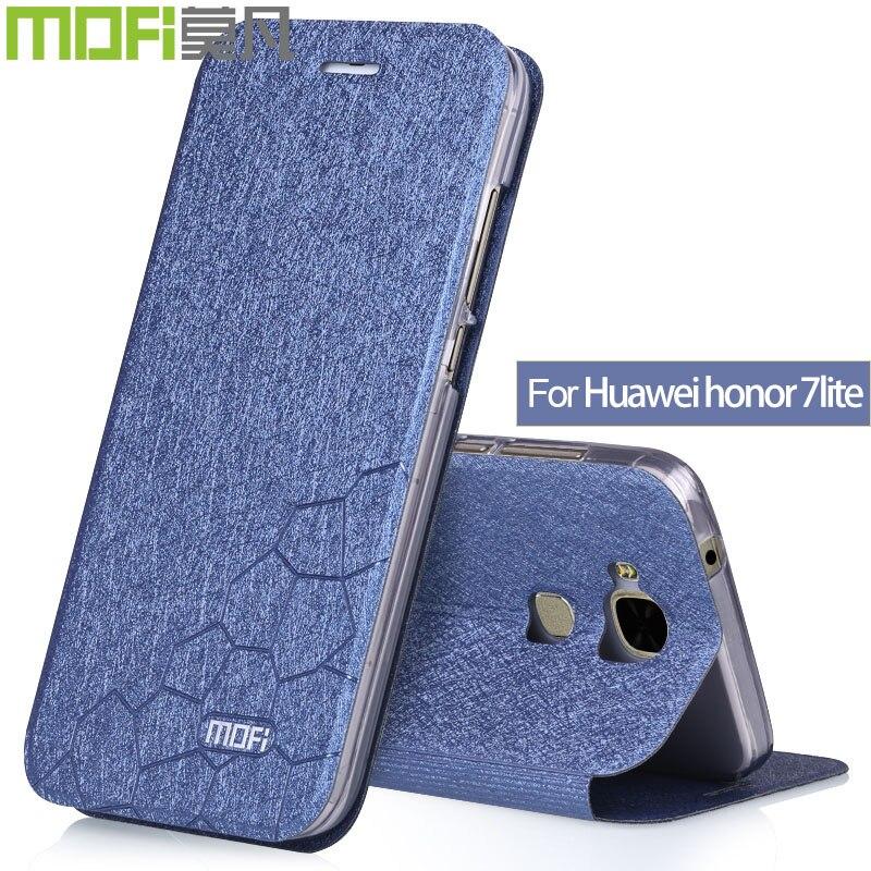Honor 7 lite case flip cover Huawei honor 7lite TPU silicon original huawey honor7 lite back cover protection soft display MOFI