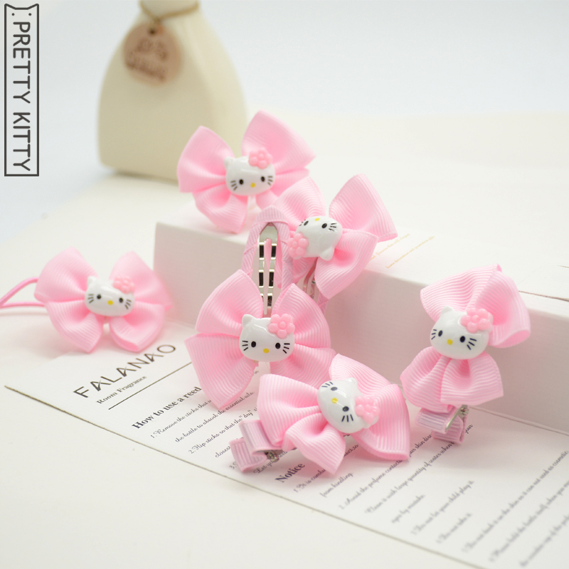 6pcs/lot pretty Kitty Kids Headband Girl Hair Accessories Hairpins Hair Clips Elastic Band ободки pretty mania ободок