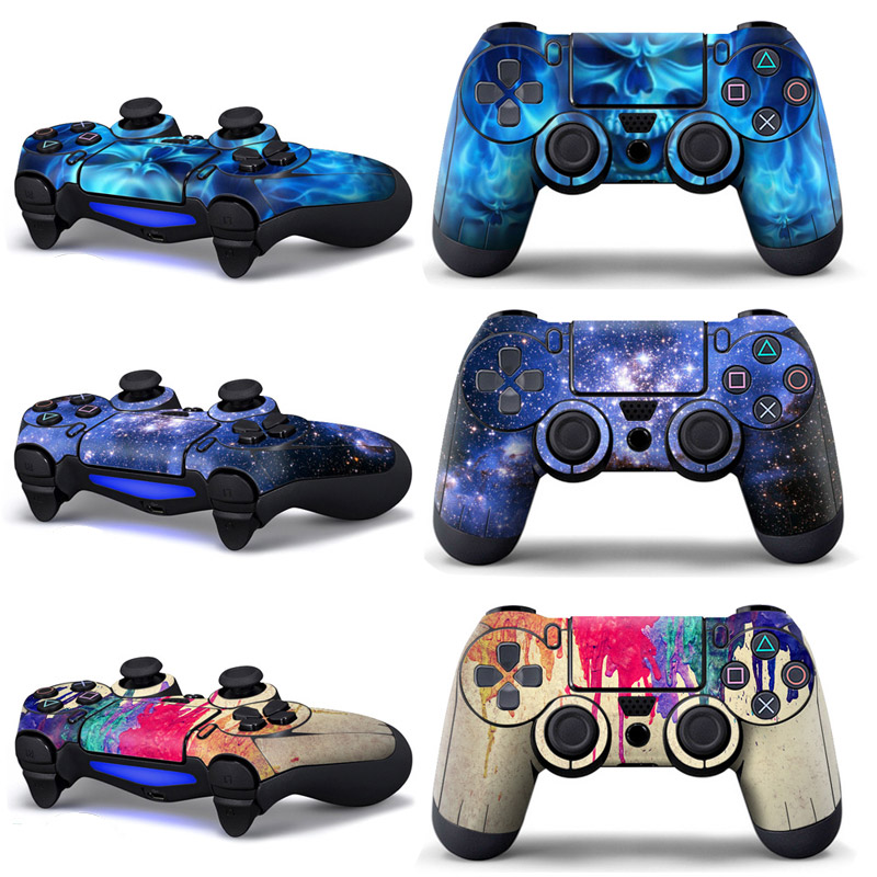 Stickers For Play Station 4 Gamepad Console Skin Slim For PS4 Controller Stickers Cover Joystick For Sony PS4 Cover Accessories(China)