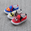 Fall fashion skates children's shoes cartoon Batman Spiderman modeling Baby First Walkers soft bottom children's canvas shoes