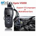2017 Новый Дизайн Диагностический Инструмент VS890 Автомобиль Код Читателя Vgate VS890 OBD2 Сканер Поддержка Multi-бренды Бесплатная Доставка