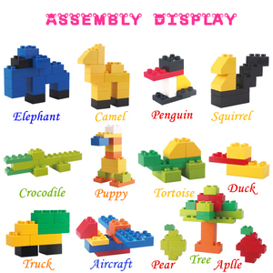 Image 4 - 102pcs Diy Duploed Building Blocks อิฐสร้างสรรค์ด้วยการศึกษาของเล่นเด็กคริสต์มาสของขวัญ