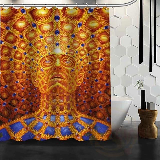 Best Nice Custom Tool Band Rock Metal Shower Curtain Bath Waterproof Fabric For Bathroom MORE