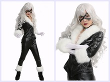 Black Cat Outfit Costume Spiderman COSplay Lady Sexy Fancy Suit Props & Wholesale black cat spiderman costume from China black cat spiderman ...