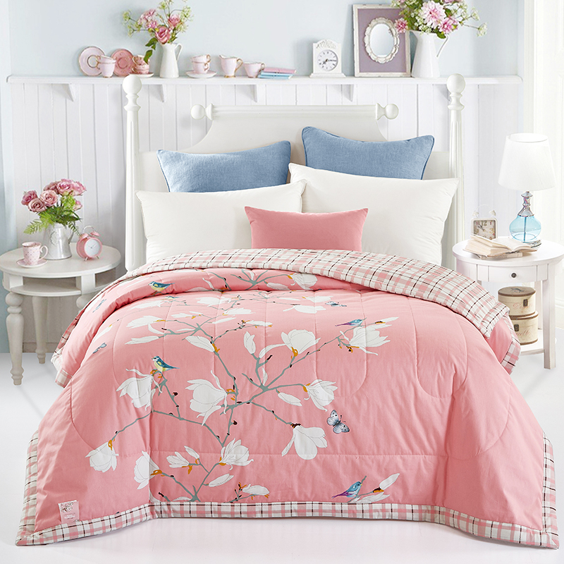 butterfly print quilting summer quilt twin queen size throws blanket cotton bedding plaid bedspread - Twin Quilts