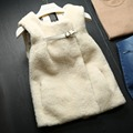 Woman's Fur Coat  Sheep Shearing Coat Short Section Full Pelt Double-Faced Fur Vests  GSJ059
