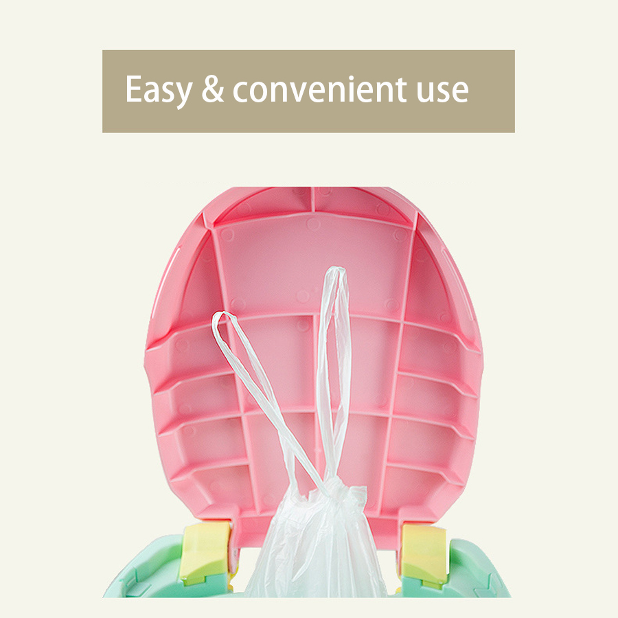 5 Rolls Universal Potty Training Toilet Seat Bin Bags Travel Potties Liners Disposable with Drawstring Convenient Use Portable | Happy Baby Mama