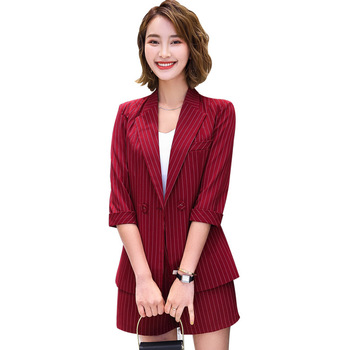Professional trousers suit small suit jacket new spring and autumn fashion professional sleeve casual work clothes two-piece