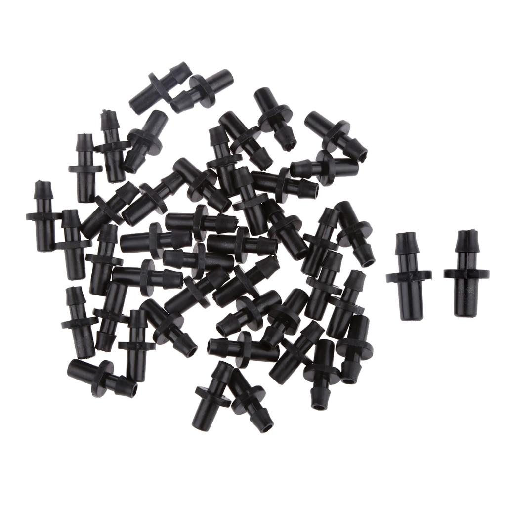 Quality 50x 1/4 Inch Plastic Hose Drip Nozzle Fitting