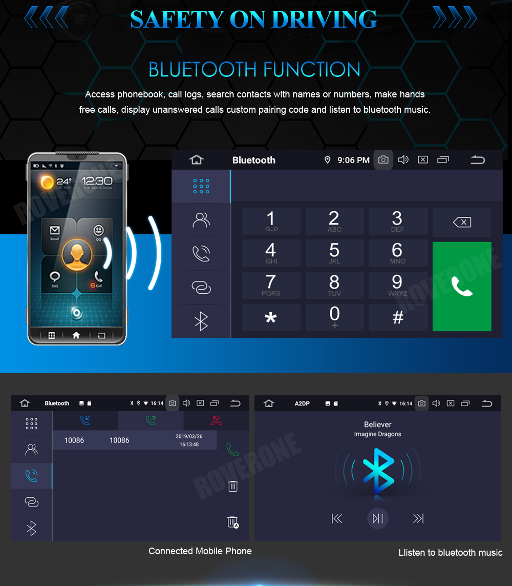 Top RoverOne Car Multimedia Player For Fiat Fiorino Qubo For Citroen Nemo For Peugeot Bipper Android 9.0 Octa Core Radio Navigation 23
