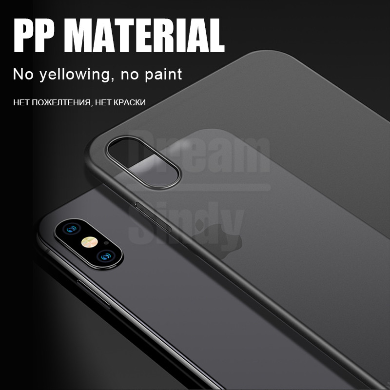 Image 3 - 0.26mm Ultra Thin Original PP Case On The For iphone X XR XS Max Full Cover For iphone 6 6s 7 8 PLus Matte Shockproof Slim Case-in Fitted Cases from Cellphones & Telecommunications