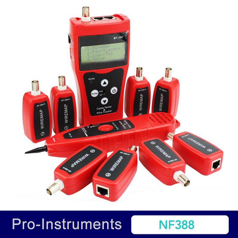 NF388 Cable Tester ADVANCED WIRE TRACKER Detector Network Telephone cable LAN Ethernet Wire tester