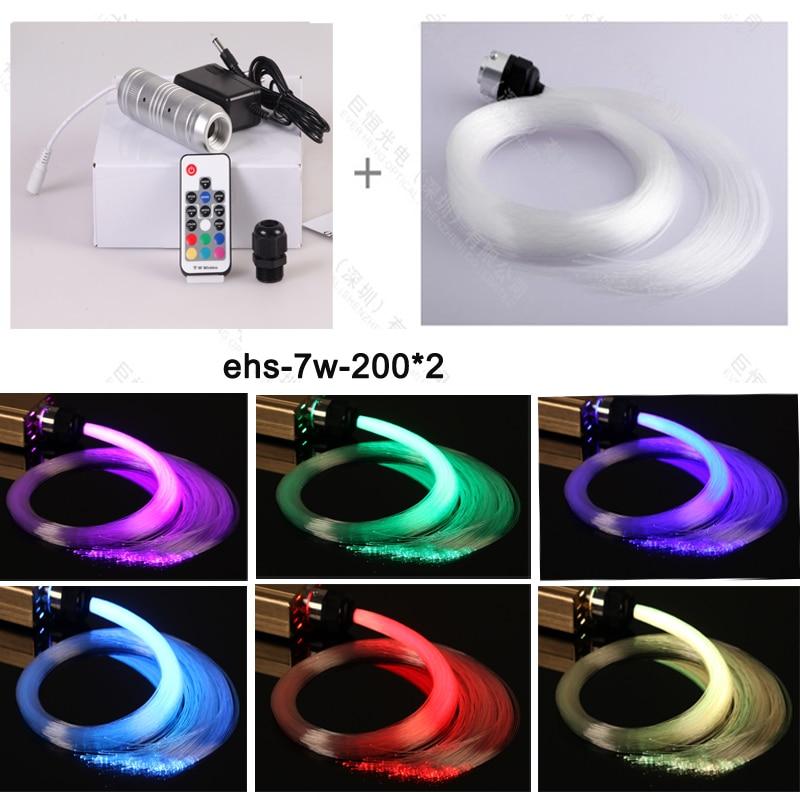 DIY mini 7w led source de lumière éclairage plafond décoratif en étoile led fibre optique kit de lumière 200 pièce 2meter