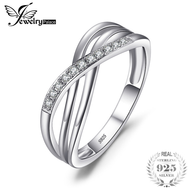 JewelryPalace Infinity Love Romantic Anniversary Wedding Promise Ring 925 Sterli
