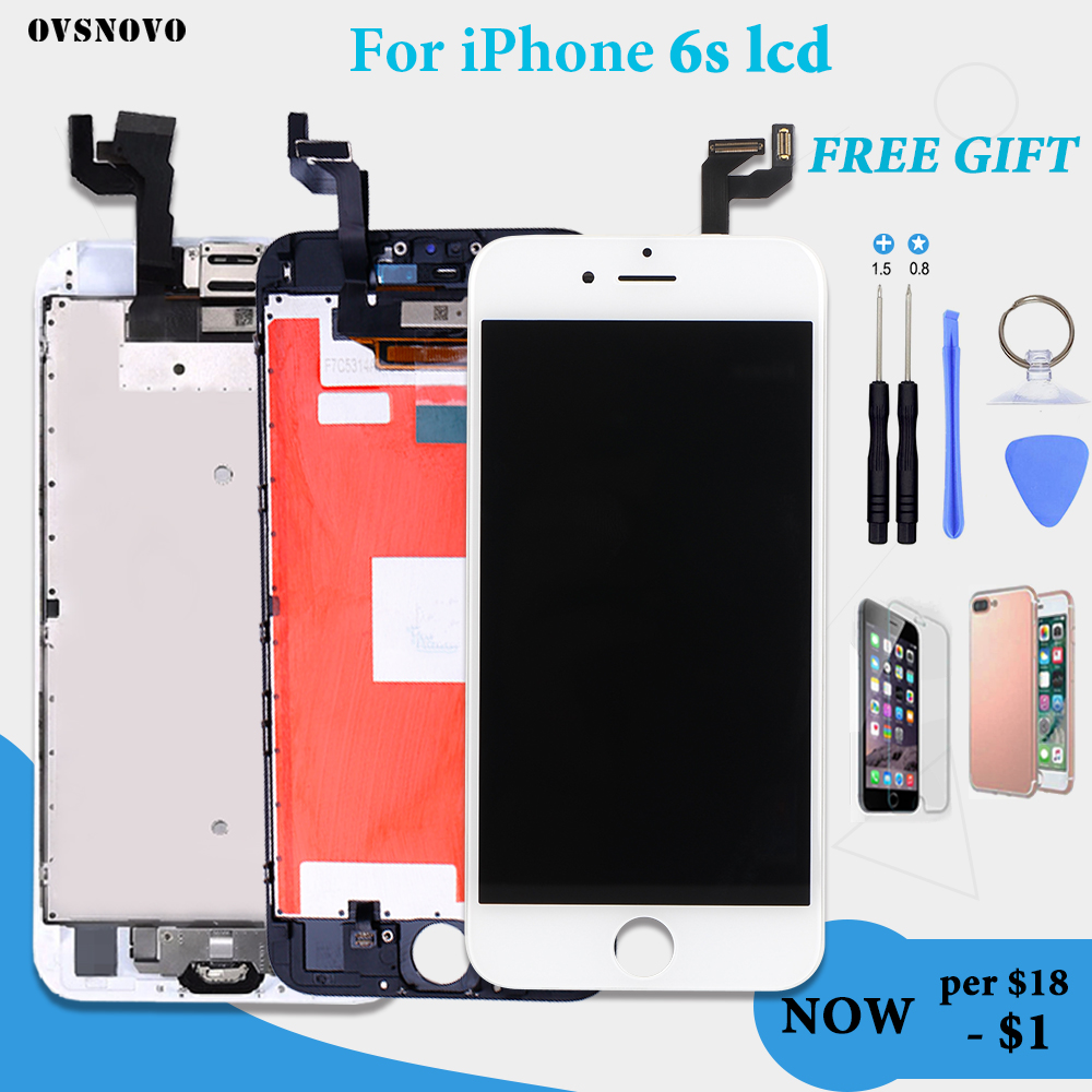 Grade AAA+++ 3D Touch Screen for iPhone 6s LCD Digitizer full set Assembly Replacement Complete Display No Dead Pixel with gifts image