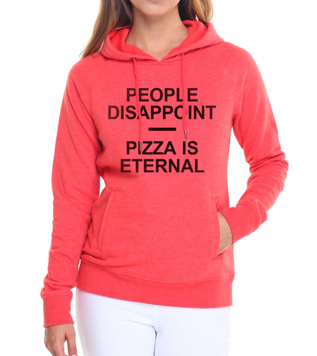 hoody kpop pullovers PEOPLE DISAPPOINT PIZZA ETERNAL tracksuits women Casual fleece pink hoodies femme brand harajuku sweatshirt