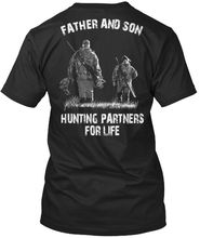 цена на Printed Father and Son Partners For Life Standard Unisex T-Shirt New T Shirts Funny Tops Tee New Unisex Funny Tops free shipping