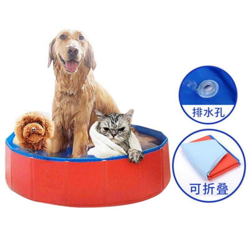 Produit pour chien Fuloon PVC Portable pliable chien chats baignoire lavage 80*20 cm Pet piscine