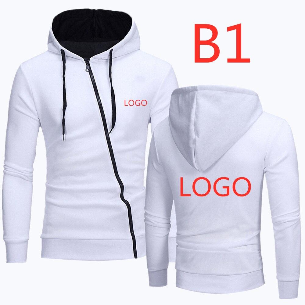 B1 Men's Leisure Hoodies Zipper Diagonal Man Classic Hoody Male Popular Hoodie Men's Printed Brand Car Logos Sweatshirts Jackets