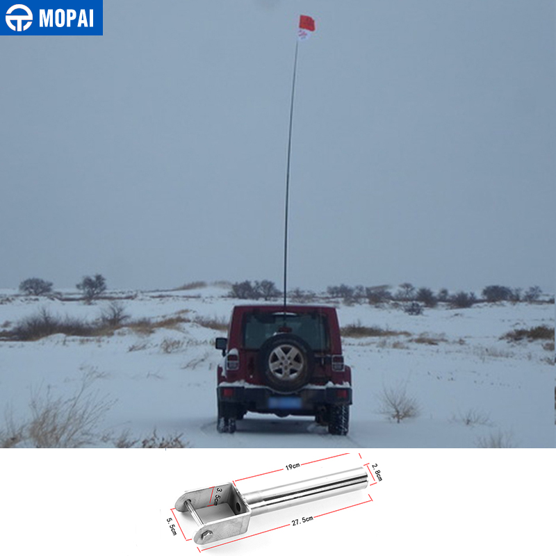 MOPAI Steel Exterior Flagpole Bracket Flag Pole Holder for Jeep Wrangler/Suzuki Jimny Off-road Vehicle Car Styling manfrotto off road pole small 28 60 см
