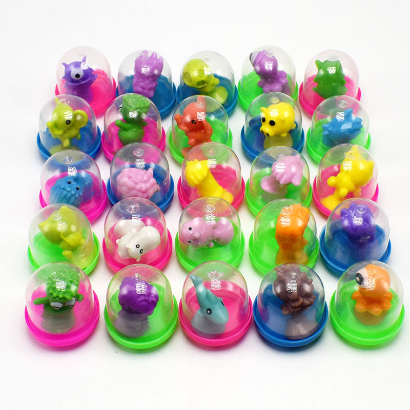 10pcs/lot Novelty Funny Mini Strange Suckers Animal Surprise Egg Capsule Egg Ball Model Puppets Toy Kids Toys For Children